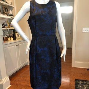 Carmen Marc Valvo Black & Royal Blue Dress